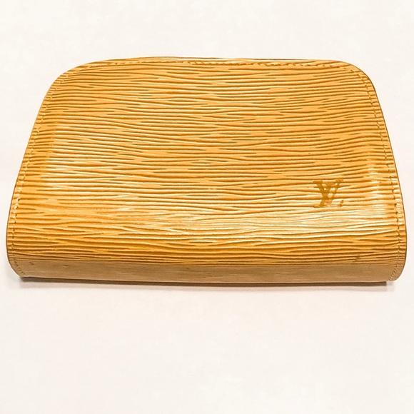 Louis Vuitton Handbags - Louis Vuitton Yellow Epi Leather Cosmetic Pouch